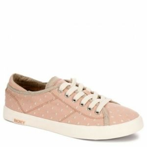 Roxy Blush Pink Sneakers With Embroidered Dots